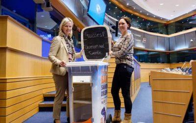 Deelcontainer Twente Milieu gepresenteerd in Brussel