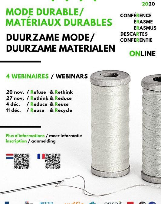 Erasmus-Descartes Conferentie over duurzame mode en materialen